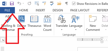 How do I make my picture appear next to my comments in Word
