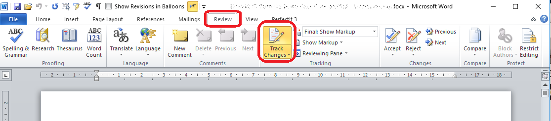 how to change color of track changes in word 2016