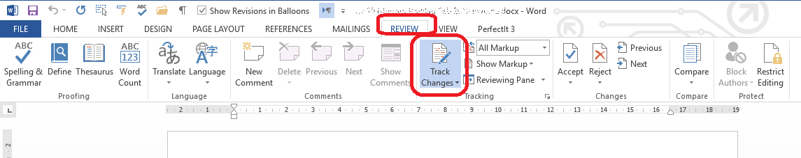 How do I know when Track Changes is turned on? Word 2007, 2010, 2013 and  2016 | LibroEditing proofreading, editing, transcription, localisation
